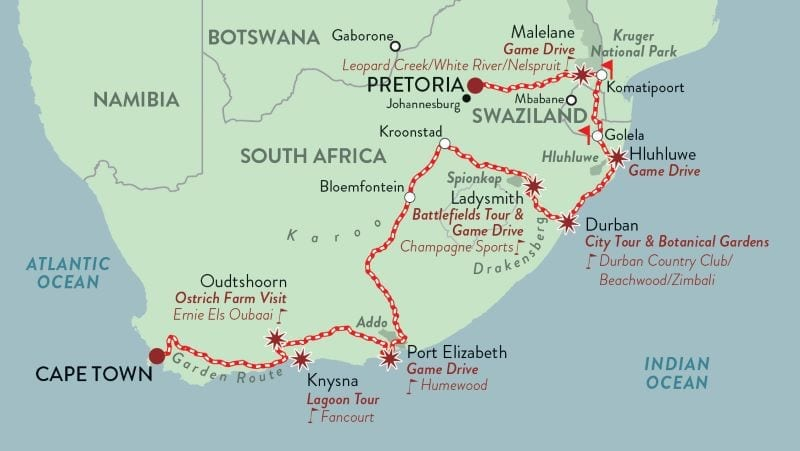 African Collage Rovos Rail - The Romance of Rail Tours by Tales from Africa Travel