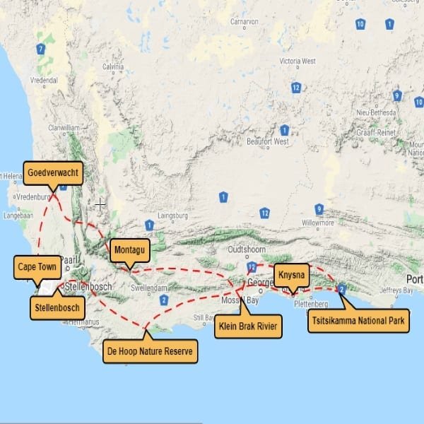 Map for Malaria Free Cape Experience Tales from Africa Travel