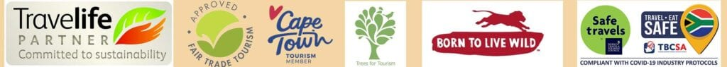 Ribbon with logo's from sustainable tourism partners for Tales from Africa Travel. real sustainable tourism in Africa